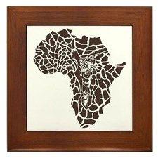 Africa in a giraffe camouflage Framed Tile
