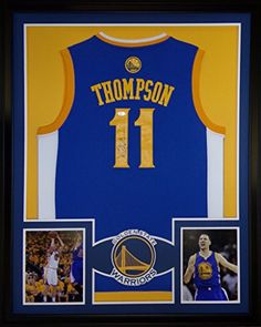 cfc5517bb70 Klay Thompson Framed Jersey Signed JSA COA Autographed Golden State  Warriors at Amazon s Sports Collectibles Store
