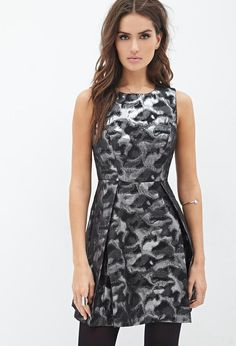 8f8d6e66 Forever 21 Abstract Metallic A-Line Dress Nye Outfits, Winter Outfits, New  Years