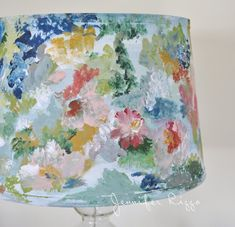 Wonderful Tips: Lamp Shades Ideas Balloons lamp shades lampshades nurseries.Lamp Shades Art How To Make shabby chic lamp shades. Wall Lamp Shades, Hanging Lamp Shade, Painting Lamp Shades, Floral Lampshade, Fabric Lampshade, Design Art Nouveau, Art Design, Media Design, Country Lamps