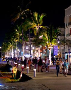The New Malecon, Puerto Vallarta, Mexico. It looks much cooler after a few Vodka con Limonadas.