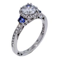Diamond Ring with Sapphires!