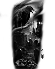 Available with me #tattoo #crow #black #graveyard #spider #tarantula #dark #tattoodesign