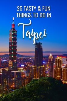 25 Fun & Delicious Things to Do in Taipei. All the best Taipei attractions and food and things to do in this glorious city, plus some ideas for day trips from Taipei, to help you plan the perfect Taipei itinerary. Amazing Destinations, Travel Destinations, Taipei Travel, Stuff To Do, Things To Do, Worldwide Travel, China Travel, Travel Guides, Travel Tips