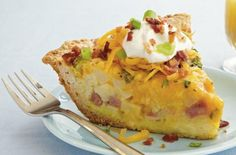 Easy Brunch Recipe: Loaded Potato and Cheddar Quiche - Perfect for #Easter http://www.kansascitysteaks.com/Easter-Dinner.2.htm