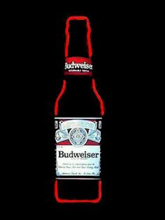 Budweiser bottle Neon sign