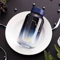 Buy Gradient Sky Glass Water Bottle to stay hydrated everywhere. Find more cool water bottles at Apollo Box! Glass Drinking Bottles, Cute Water Bottles, Best Water Bottle, Glass Water Bottle, Glass Bottles, Drink Bottles, Botella Swell, Unicorn Pencil Case, Disney Pins Sets