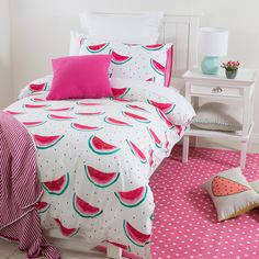 One of the largest home linen specialists in Australia - browse our range of quality bedding, bed linen, living & home decor. Bed For Girls Room, Cool Kids Bedrooms, Girl Room, Dream Bedroom, Room Decor Bedroom, Bed Cover Design, Kids Bedding Sets, Rainbow Room, Indie Room