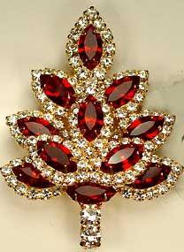 Eisenberg Ice Vintage Christmas Tree Brooch.