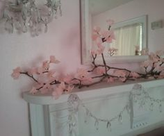 Tissue paper Cherry Blossom branches, super easy, super cheap, super fast, super All you need: a few branches ( I use my neighbor's Magnolia br. Cherry Blossom Decor, Cherry Blossom Wedding, Cherry Blossoms, Pink Blossom, Diy Flowers, Paper Flowers, Magnolia Branch, Paper Crafts, Diy Crafts