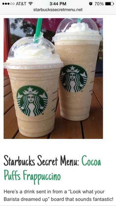 Starbucks secret menú Cocoa puffs