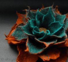 felted flowers - Google Search