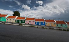 """Row homes on """"Berg Altena"""", Willemstad, Curacao by CrapulePHL, via Flickr"""