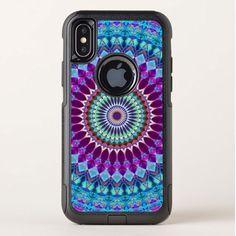 SOLD iPhone X Commuter Case Geometric Mandala G382 https://www.zazzle.com/iphone_x_commuter_case_geometric_mandala_g382-256089254306685202 #Zazzle #iPhoneX #Commuter #Case #Geometric #Mandala #blue #purple #circle #concentric