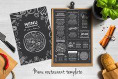 Food menu, restaurant flyer #8 by Barcelona Design Shop on Creative Market