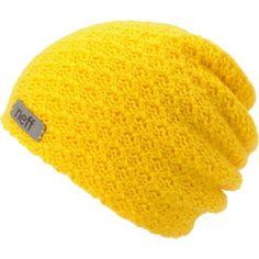 Neff Girls Grams Mustard Yellow Knit Beanie 0a5fa7d008bf