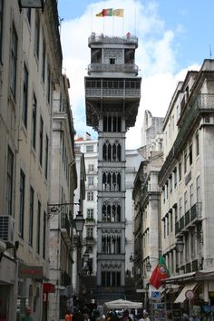 Santa Justa, Lisboa...my beloved city, and the street lift designed by Mr. Eiffel