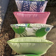 Water-resistant, UV resistant, mould resistant and available in a great choice of fresh colours.  Cushions by Amelfi.