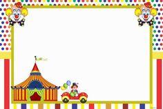 Imagenes de payasitos y circo para tarjetas invitaciones etiquetas stickers