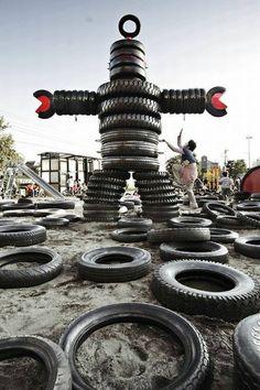 40 artesanato com reciclagem feitos com pneus!