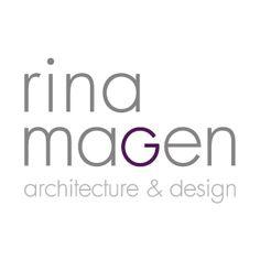 LOGO Design by Curly Black - design & concept Studio - UX | UI | Branding | Packaging Design | סטודיו קרלי בלק - עיצוב חווית משתמש | מיתוג ועיצוב אריזות | עיצוב אריזות | עיצוב לוגו | תדמית - Logo Design for Rina Magen - Architecture & Design  עיצוב לוגו לאדריכלית והמעצבת רינה מגן