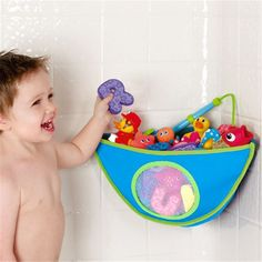 Baby bath toys Tidy Storage Suction Cup Bag Swimming Toy for Kid Educational Toys Bathroom Corner Mesh Bag Baskets