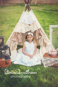 ruffle teepee tent photo prop via Etsy