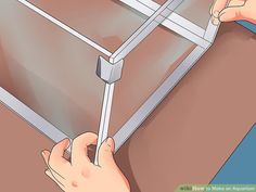 How to Make an Aquarium (with Pictures) - wikiHow Aquarium Diy, Turtle Aquarium, Glass Aquarium, Nature Aquarium, Aquarium Design, Saltwater Aquarium, Aquarium Fish Tank, Freshwater Aquarium, Fish Tanks