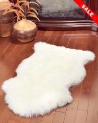 Ivory White Sheepskin Rug - Single