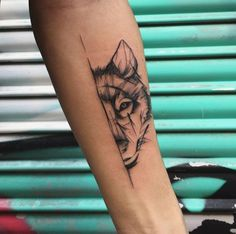 Sketch style wolf tattoo by Fervescent