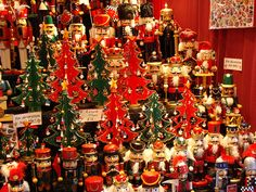 Wooden Ornament trees and Nutcrackers at a German Christmas Market stall Christmas Market Stall, German Christmas Markets, Christmas Store, Christmas Villages, Noel Christmas, Christmas And New Year, Christmas Shopping, All Things Christmas, Xmas