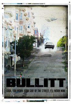 Bullitt retro style poster movie. vintage San Francisco street. Available in different sizes. Digital Art. Movie quote print. #bullitt #movie #postermovie #posterfilm #wallart #walldecor #car #mcqueen #sanfrancisco