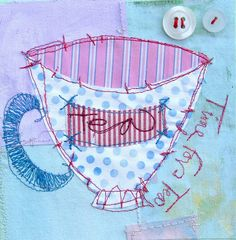 Loose playful stitching.... a scribble stretch treatment.
