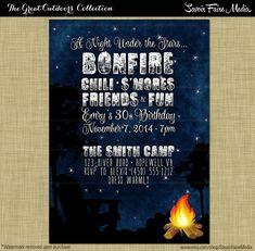 free printables party invitation bonfire night entertaining