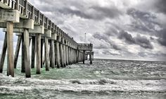 Storm coming in Panama City Beach, FL shot in HDR. Shot at the pier. Panama City Beach Florida, Florida Travel, Panama City Panama, Florida Beaches, Great Places, Places To Go, Us Vacation Spots, Florida Pictures, Beach Photos