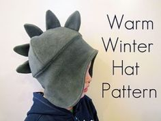 Tutorial: Warm Winter Hat with dino spikes · Sewing   CraftGossip.com