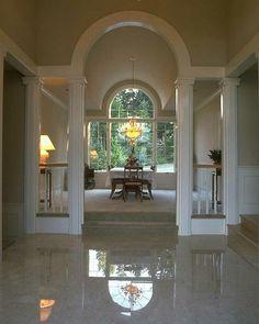 Flooring: Astonishing Porcelain Tile That Looks Like . Inspirations: Astounding Tile Layout For Cool Wall . Living Room Flooring, Bedroom Flooring, Home Living Room, Installing Tile Floor, Tiled Hallway, Travertine Floors, Tile Flooring, House Design Pictures, Barn Door Handles