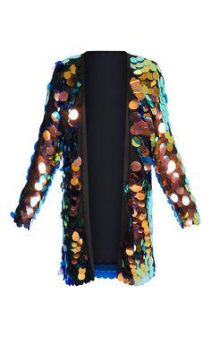 Iridescent Sequin Kimono   Coats & Jackets   PrettyLittleThing USA