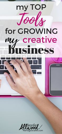 My Top Business Tools for growing my creative business by Jennifer Allwood of theMagicBrushinc.com These are products and services that Jen uses to run her successful painting business and will help anyone run a business more efficiently and faster, while taking out the guess work of deciding which tech applications to use.