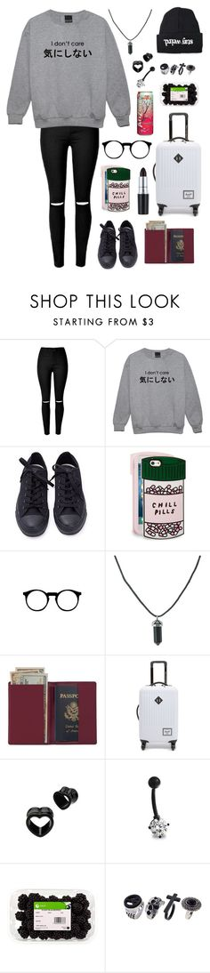 """""""run away with me"""" by sfalta ❤ liked on Polyvore featuring Converse, ban.do, Royce Leather, Herschel Supply Co. and Bling Jewelry"""