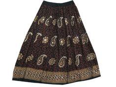 "Women Peasant Skirt Bohemian Gypsy Floral Paisley Print Sequin Skirt 36"" Mogul Interior, http://www.amazon.com/dp/B009QV38I0/ref=cm_sw_r_pi_dp_2a3Fqb0Y9MFQ7"