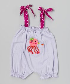 Love this Victoria Kids Light Lilac Jellyfish Bubble Romper - Infant & Toddler by Victoria Kids on #zulily! #zulilyfinds