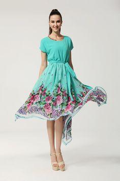 romantisch Frauen Sommer Lange Chiffon Frauen Kleider Abendkleid Cocktail Kleid Neu