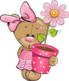 Girl Cartoon, Cartoon Art, Bear Cartoon, Cute Cartoon, Tatty Teddy, Teddy Bear, Bear Pictures, Cute Pictures, Baby Motiv