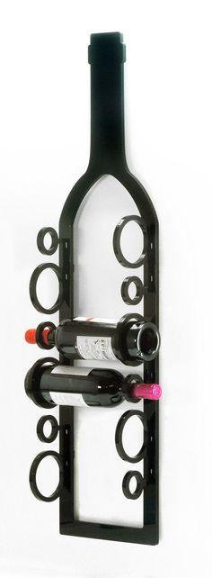 Botellero de pared / / estante de acrílico del vino / /