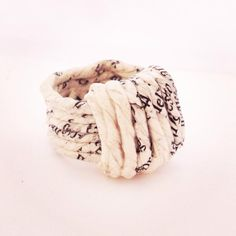 Newspaper yarn ring