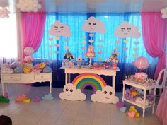 Ideas For Baby Shower Nena Bailarina Baby Shower Desserts, Baby Shower Cupcakes, Baby Shower Favors, Baby Boy Shower, Diy Baby Shower Decorations, Balloon Decorations, Rain Baby Showers, Care Bear Party, Baby Shower Vintage