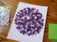 Paint chip flower...I would not frame just do it on a canvas and use modpodge