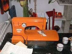 Orange Viking Sewing Machine