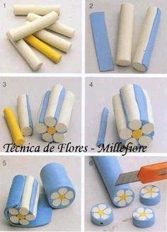 sculpey flower canes